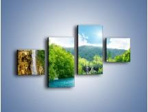 Obraz na płótnie – Cały urok górskich wodospadów – czteroczęściowy KN769W3