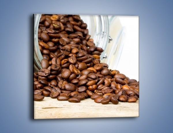 Obraz na płótnie – Ziarna kawy w słoiku – jednoczęściowy kwadratowy JN368