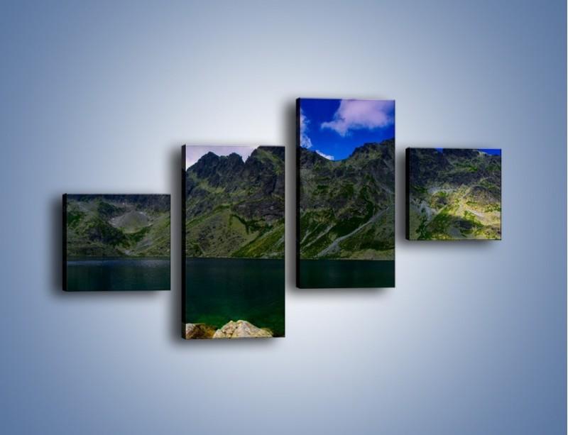 Obraz na płótnie – Horyzont górskich szczytów – czteroczęściowy KN856W3
