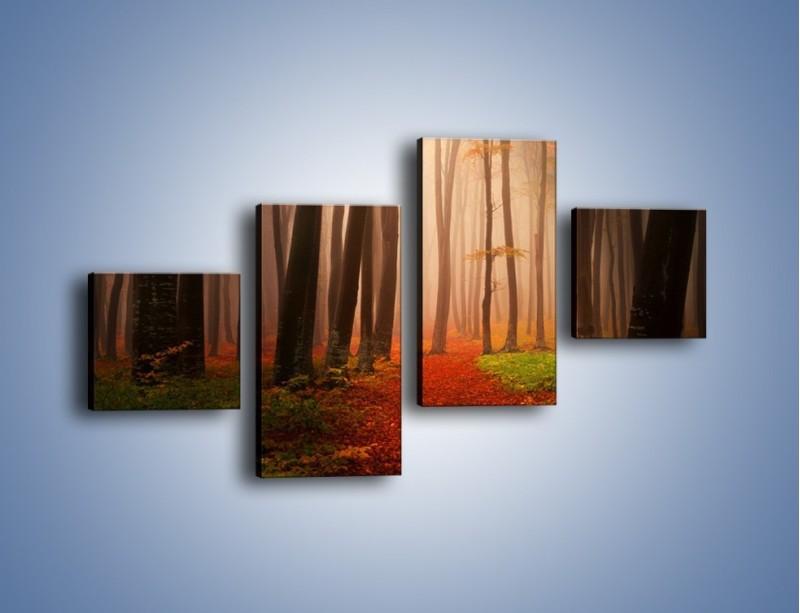 Obraz na płótnie – Las pełen tajemnic – czteroczęściowy KN909W3
