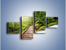 Obraz na płótnie – Bezpieczna droga przez las – czteroczęściowy KN922W3
