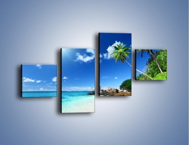 Obraz na płótnie – Rajska plaża i jej piękno – czteroczęściowy KN963W3