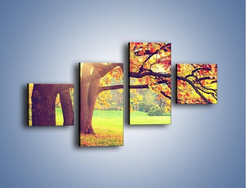 Obraz na płótnie – Jesienią w parku też jest pięknie – czteroczęściowy KN967W3