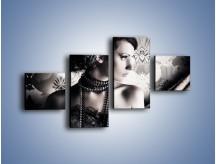 Obraz na płótnie – Czarny kobiecy charakter – czteroczęściowy L095W3