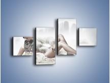 Obraz na płótnie – Biel i jego bogactwo – czteroczęściowy L100W3