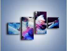 Obraz na płótnie – Bajkowy spacer z motylami – czteroczęściowy L127W3