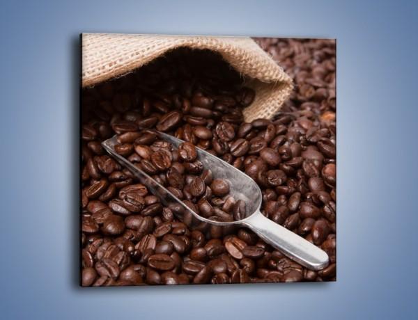 Obraz na płótnie – Worek pełen kawy – jednoczęściowy kwadratowy JN372