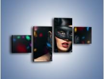 Obraz na płótnie – Bal w czarnych maskach – czteroczęściowy L177W3