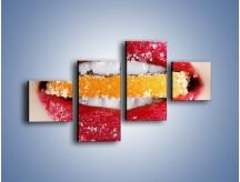 Obraz na płótnie – Cytrusy w słodkich ustach – czteroczęściowy L207W3