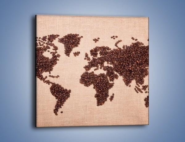 Obraz na płótnie – Kawowy świat – jednoczęściowy kwadratowy JN373