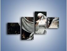 Obraz na płótnie – Dama w białych bandażach – czteroczęściowy L278W3