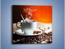 Obraz na płótnie – Aromatyczny zapach kawy – jednoczęściowy kwadratowy JN374
