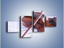 Obraz na płótnie – Melodia grana na skrzypcach – czteroczęściowy O003W3