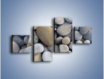 Obraz na płótnie – Kamienie duże i małe – czteroczęściowy O006W3