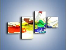Obraz na płótnie – Kolory pędzlem malowane – czteroczęściowy O046W3