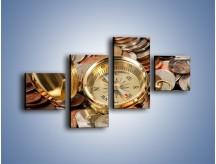 Obraz na płótnie – Kompas zatopiony w monetach – czteroczęściowy O089W3
