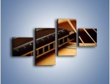 Obraz na płótnie – Instrumenty z drewna – czteroczęściowy O108W3