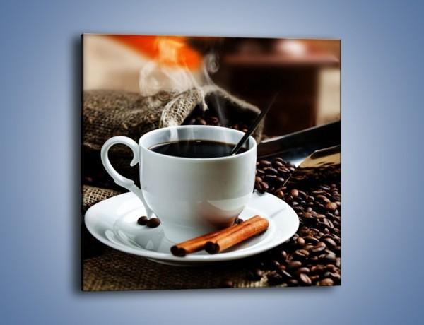 Obraz na płótnie – Kawowa rozkosz w zaciszu domowym – jednoczęściowy kwadratowy JN375