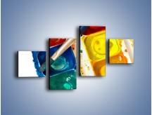 Obraz na płótnie – Kolorowy świat malowany farbami – czteroczęściowy O116W3