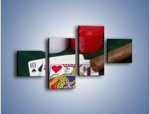 Obraz na płótnie – Męski świat hazardu – czteroczęściowy O121W3
