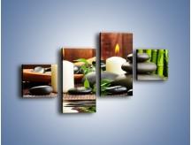 Obraz na płótnie – Masaż przy świecach – czteroczęściowy O176W3