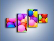 Obraz na płótnie – Basen z kolorowymi piłeczkami – czteroczęściowy O208W3