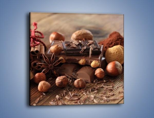 Obraz na płótnie – Orzechowo-czekoladowe uniesienie – jednoczęściowy kwadratowy JN376