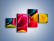 Obraz na płótnie – Kolorowe rulony – czteroczęściowy O217W3