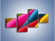 Obraz na płótnie – Idealna kolorowa kompozycja – czteroczęściowy O219W3