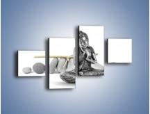 Obraz na płótnie – Budda wśród szarości – czteroczęściowy O220W3