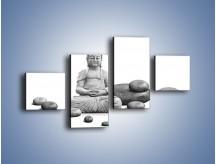 Obraz na płótnie – Budda wśród kamieni – czteroczęściowy O229W3
