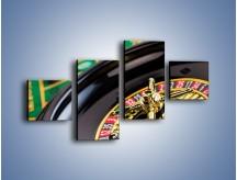 Obraz na płótnie – Czas drogocenny w kasynie – czteroczęściowy O238W3