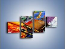Obraz na płótnie – Kolory ze sobą zmieszane – czteroczęściowy O251W3