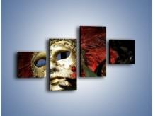 Obraz na płótnie – Maska pełna tajemnicy – czteroczęściowy O252W3