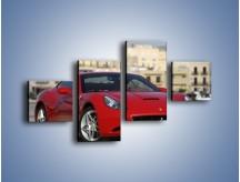 Obraz na płótnie – Czerwone Ferrari California – czteroczęściowy TM057W3