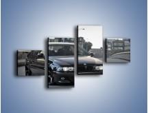 Obraz na płótnie – Czarne BMW E39 M5 – czteroczęściowy TM072W3