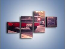 Obraz na płótnie – Czerwony Ford Mustang – czteroczęściowy TM087W3