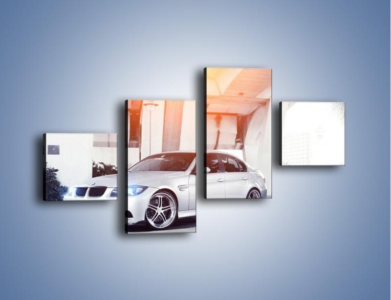 Obraz na płótnie – BMW 3 E90 – czteroczęściowy TM112W3