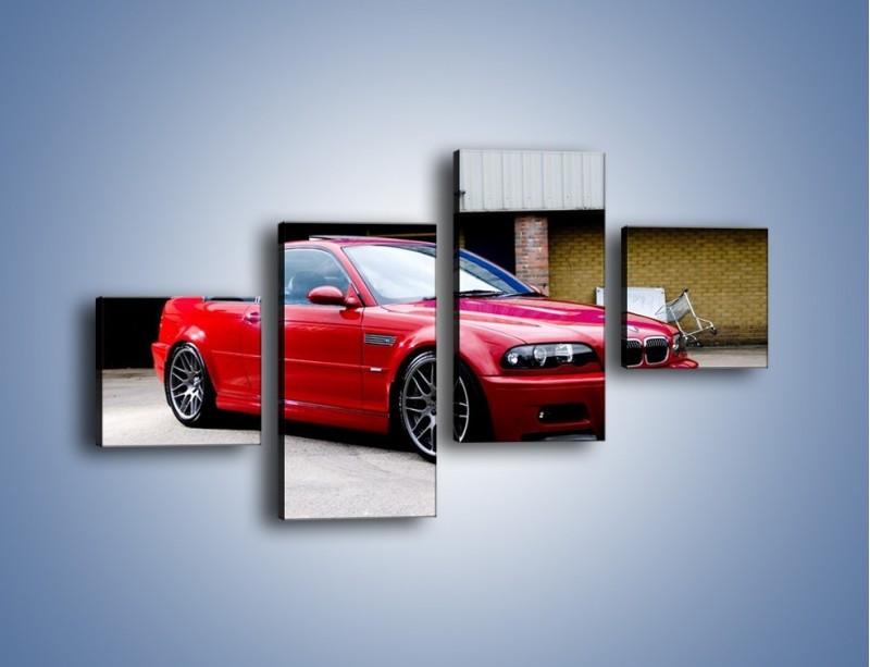 Obraz na płótnie – BMW M3 E46 Coupe – czteroczęściowy TM125W3