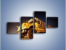 Obraz na płótnie – Amerykański School Bus – czteroczęściowy TM146W3