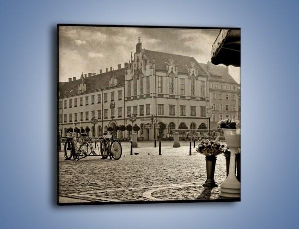 Obraz na płótnie – Rynek Starego Miasta w stylu vintage – jednoczęściowy kwadratowy AM138