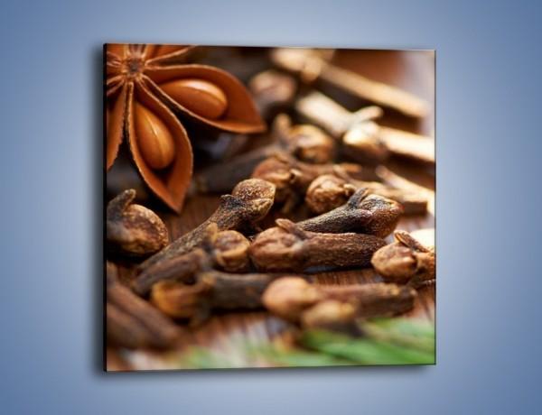 Obraz na płótnie – Dodatki idealne do kawy – jednoczęściowy kwadratowy JN379