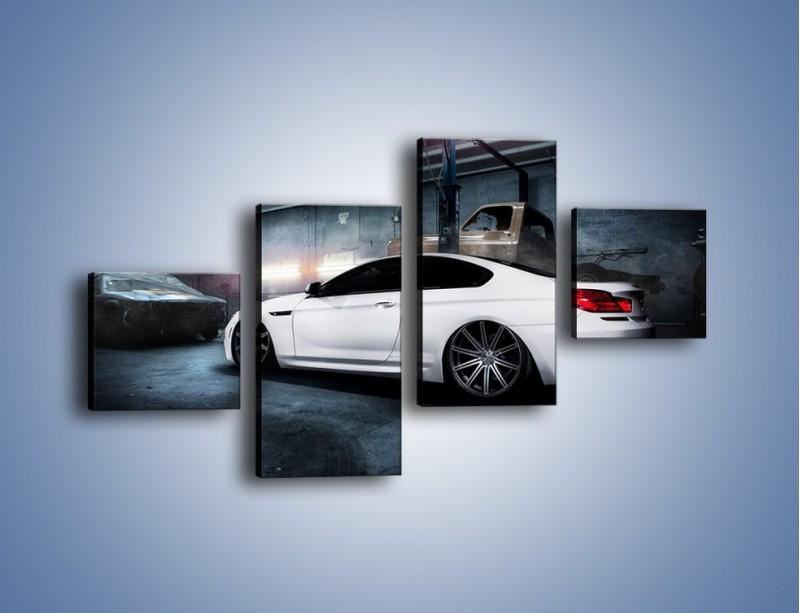 Obraz na płótnie – BMW M6 F13 w garażu – czteroczęściowy TM165W3