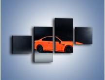 Obraz na płótnie – BMW M3 E92 Coupe Orange – czteroczęściowy TM168W3