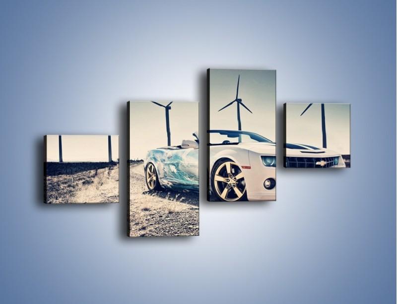 Obraz na płótnie – Chevrolet Camaro Cabrio – czteroczęściowy TM173W3
