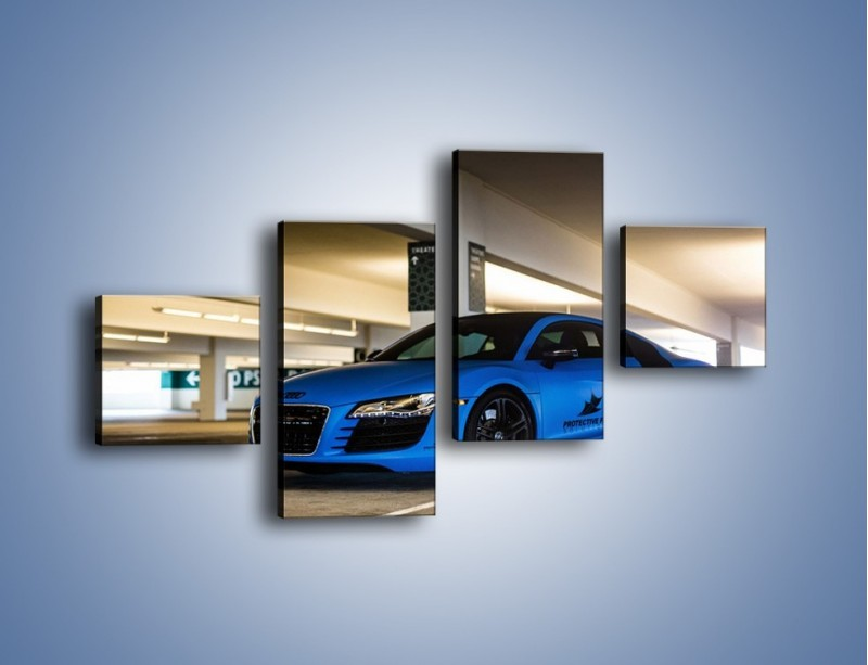 Obraz na płótnie – Audi R8 – czteroczęściowy TM180W3