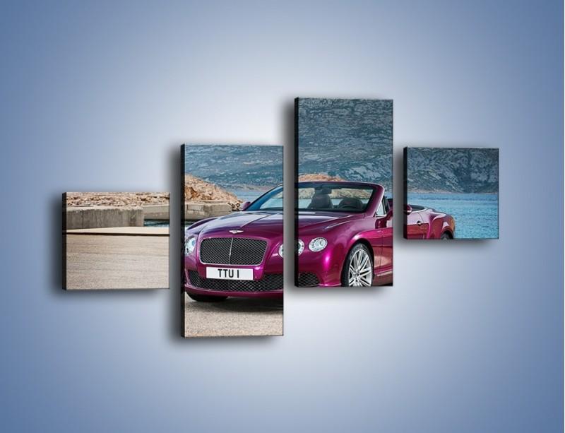 Obraz na płótnie – Bentley Continental Speed GT – czteroczęściowy TM187W3