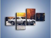 Obraz na płótnie – Aston Martin DB5 – czteroczęściowy TM208W3