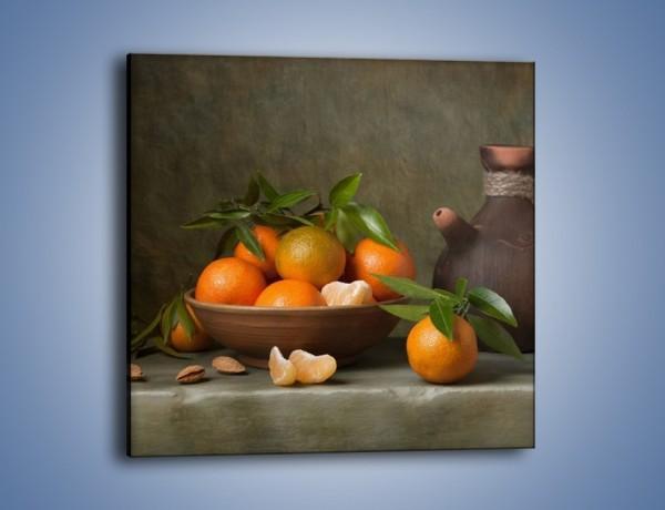 Obraz na płótnie – Miska nazrywanych pomarańczy – jednoczęściowy kwadratowy JN381