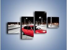 Obraz na płótnie – BMW 5 E34 na moście – czteroczęściowy TM227W3
